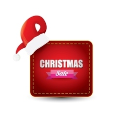 Christmas sales tag or label vector