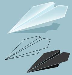 Rocket paper vector