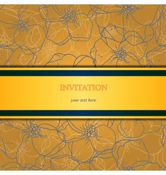 Floral and ornamental background layered vector