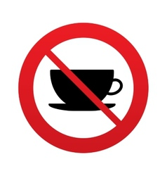 No coffee cup sign icon coffee button vector