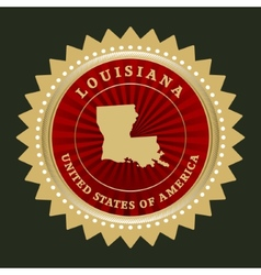Star label Louisiana vector image