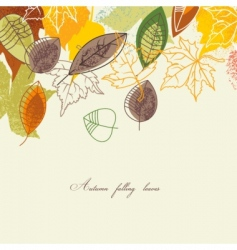 Autumnal background vector
