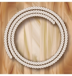Wood Frame Rope Design vector image