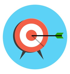 Target icon flat style isolated in colored circle vector