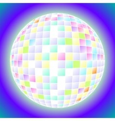 Ball fun disco party maracle vector