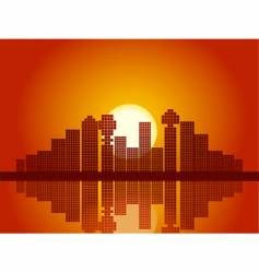 abstract city sunset vector image