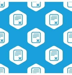 Declined document hexagon pattern vector