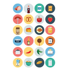 Food flat icons 4 vector