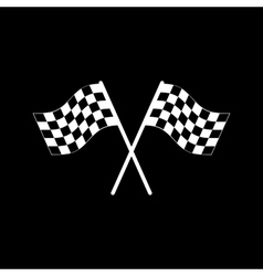 The checkered flag icon finish symbol flat vector