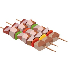 Skewers vector image