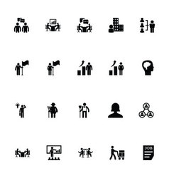 Working human icons 2 vector