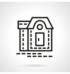 Mansion black line icon vector