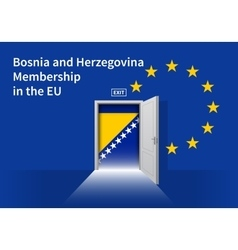 European union flag wall with bosnia and vector