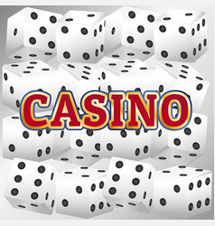 Casino dice set vector