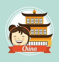 china kid vector image