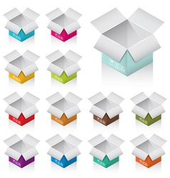Colorful boxes vector