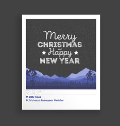 creative greating card christmas landscape vector image vector image