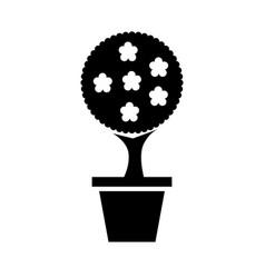 decorative garden pot isolated icon vector image vector image