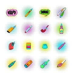 E-cigarettes icons set vector