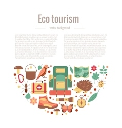 Ecotourism camping poster vector