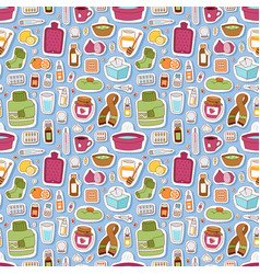 flu influenza icons seamless pattern vector image vector image