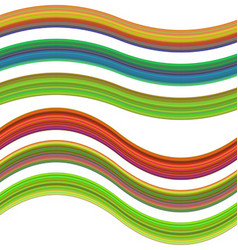 Graphic design element set - gradient ribbons vector