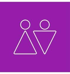 heterosexual couple icon Eps10 vector image vector image
