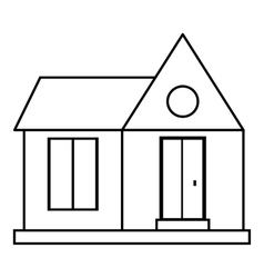 Home building icon outline style vector image vector image