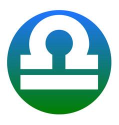 Libra sign white icon in vector