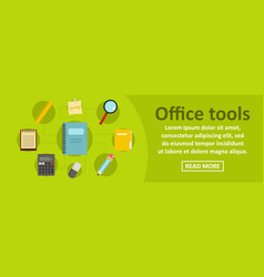 office tools banner horizontal concept vector image