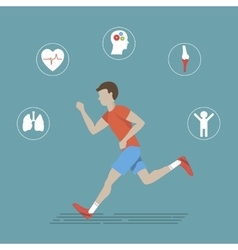 Running health infographics vector