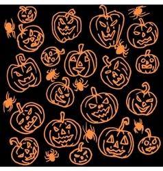 seamless pattern for Halloween Pumpkin vector image vector image