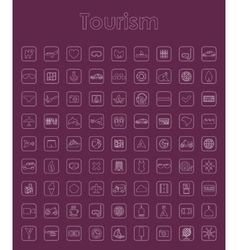 Set of tourism simple icons vector image vector image
