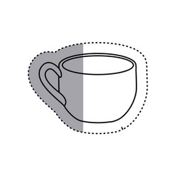 Sticker silhouette cup with handle icon vector