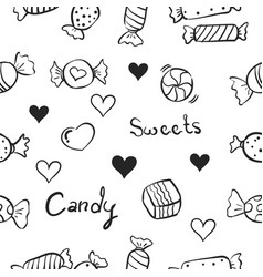 Sweet candy doodles vector