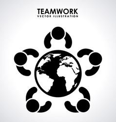 teamwork design vector image vector image