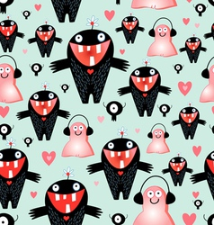 texture love monsters vector image vector image