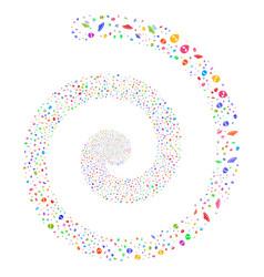Ufo symbols fireworks spiral vector