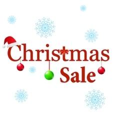 Winter sale christmas balls vector
