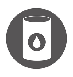 Oil fuel industry isolated icon vector