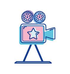 short film lights video camera studio vector image
