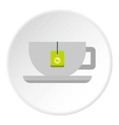 Coffee cup icon circle vector