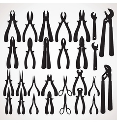 Pliers Silhouette vector image