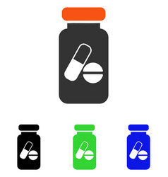 Drugs phial flat icon vector