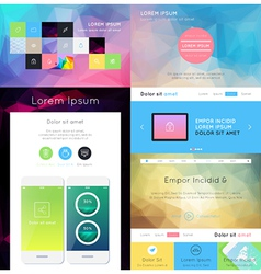 Ui is a set of components featuring the flat desig vector
