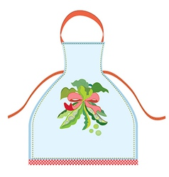 Apron design with pea pod vector