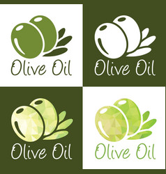 Olive oil icons vector