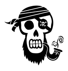 Pirate skull and crossbones vector