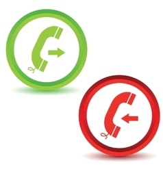 Two call icons vector