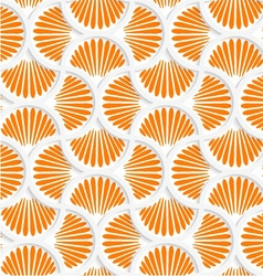 3d orange ray striped pin will grid vector